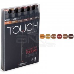 Touch - Touch Twin Marker Kalem 6lı Set Wood Tones (1)