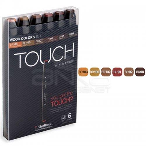 Touch Twin Marker Kalem 6lı Set Wood Tones