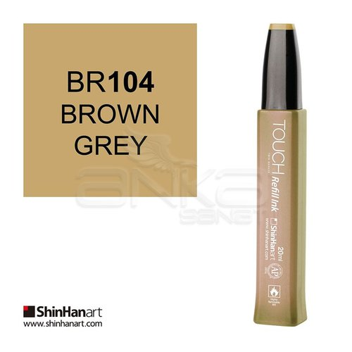 Touch Twin Marker Refill İnk 20ml BR104 Brown Grey