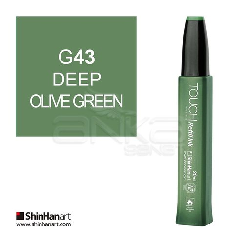 Touch Twin Marker Refill İnk 20ml G43 Deep Olive Green