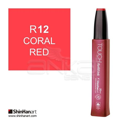 Touch Twin Marker Refill İnk 20ml R12 Coral Red