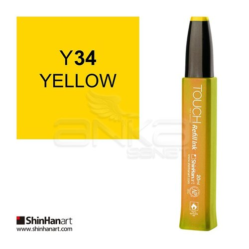 Touch Twin Marker Refill İnk 20ml Y34 Yellow