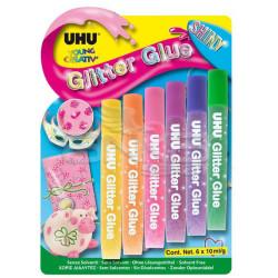 Uhu - Uhu Shiny Glitter Glue 6lı Simli Yapıştırıcı
