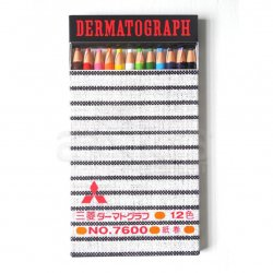 Uni - Uni Dermatograph Oil Based Pencil 12li Set (1)