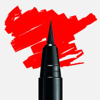 Uni Posca Fırça Uçlu Marker PCF-350 Kırmızı - Kırmızı