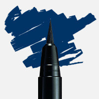 Uni Posca Fırça Uçlu Marker PCF-350 Mavi - Mavi