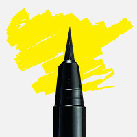 Uni Posca Fırça Uçlu Marker PCF-350 Sarı - Sarı