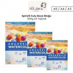 Van Dyck - Van Dyck Spiralli Sulu Boya Bloğu 300g 20 Yaprak
