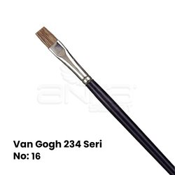 Van Gogh 234 Seri Öküz Kulağı Kılı Düz Kesik Uçlu Fırça - Thumbnail