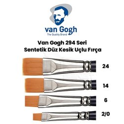 Van Gogh 294 Seri Sentetik Düz Kesik Uçlu Fırça - Thumbnail