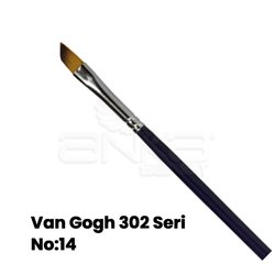 Van Gogh - Van Gogh 302 Seri Sentetik Yan Kesik Uçlu Fırça (1)