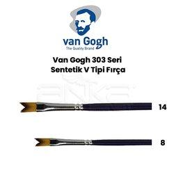 Van Gogh 303 Seri Sentetik V Tipi Fırça - Thumbnail