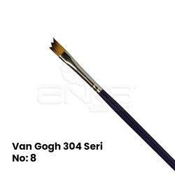 Van Gogh 304 Seri Sentetik Yan Kesik Tarak Fırça - Thumbnail