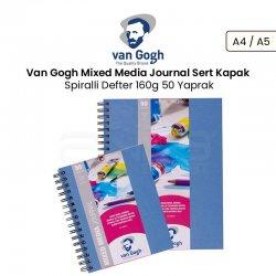 Van Gogh Mixed Media Journal Sert Kapak Spiralli Defter 160g 50 Yaprak - Thumbnail