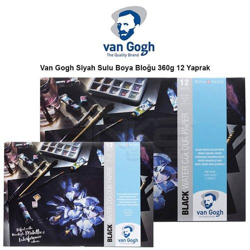Van Gogh Siyah Sulu Boya Bloğu 360g 12 Yaprak