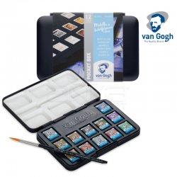 Van Gogh - Van Gogh Sulu Boya Seti 12 Yarım Tablet Metalik Renkler