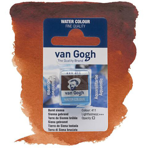 Van Gogh Tablet Sulu Boya Yedek Burnt Sienna 411 - 411 Burnt Sienna