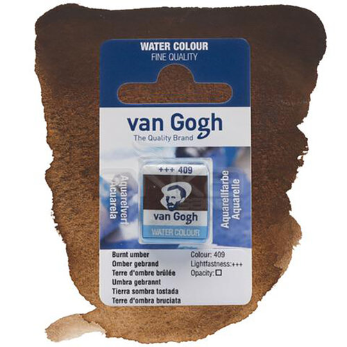 Van Gogh Tablet Sulu Boya Yedek Burnt Umber 409 - 409 Burnt Umber