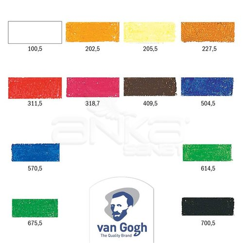 Van Gogh Yağlı Pastel Boya Seti 12li 95860012