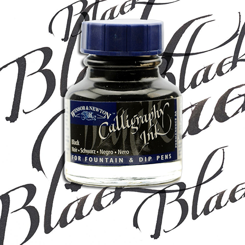 Winsor&Newton Calligraphy Mürekkebi 30ml Black 30