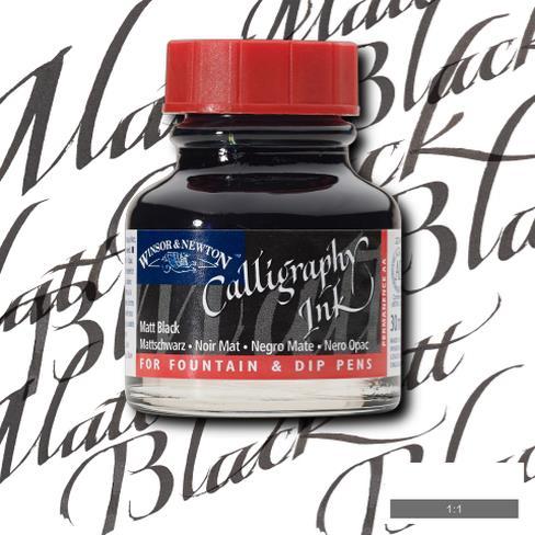 Winsor&Newton Calligraphy Mürekkebi 30ml Matt Black 30