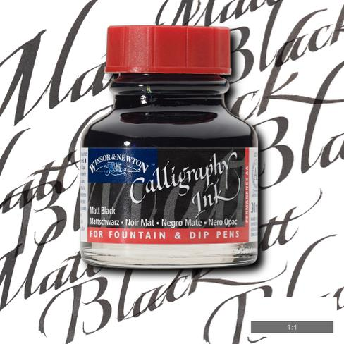 Winsor&Newton Calligraphy Mürekkebi 30ml Matt Black 30