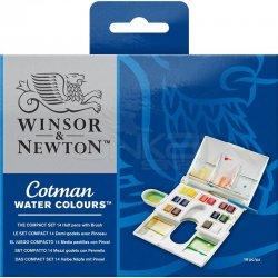 Winsor&Newton - Winsor&Newton Cotman Compact 14lü Sulu Boya Seti Defter Hediyeli (1)