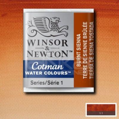 Winsor & Newton Tablet Sulu Boya No:074 Burnt Sienna - 074 Burnt Sienna