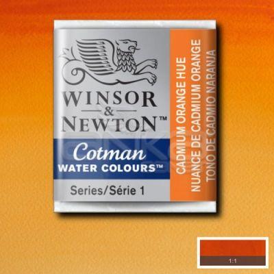 Winsor & Newton Tablet Sulu Boya No:090 Cadmium Orange Hue - 090 Cadmium Orange Hue