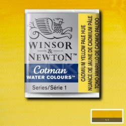 Winsor&Newton - Winsor & Newton Tablet Sulu Boya No:119 Cadmium Yellow Pale Hue