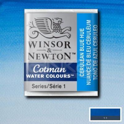 Winsor & Newton Tablet Sulu Boya No:139 Cerulean Blue Hue - 139 Cerulean Blue Hue