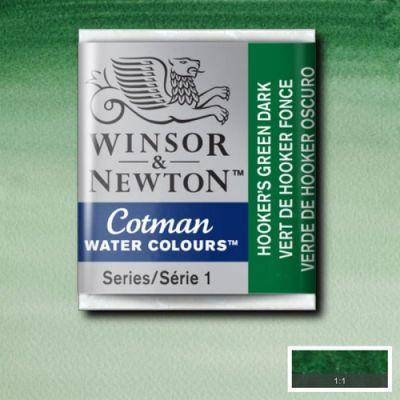 Winsor & Newton Tablet Sulu Boya No:312 Hookers Green Dark - 312 Hookers Green Dark