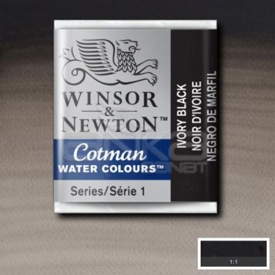 Winsor & Newton Tablet Sulu Boya No:331 Ivory Black - 331 Ivory Black