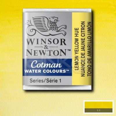 Winsor & Newton Tablet Sulu Boya No:346 Lemon Yellow Hue - 346 Lemon Yellow Hue