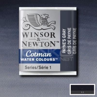 Winsor & Newton Tablet Sulu Boya No:465 Paynes Grey - 465 Payne's Grey
