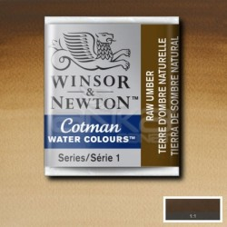 Winsor&Newton - Winsor & Newton Tablet Sulu Boya No:554 Raw Umber