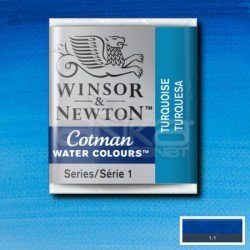 Winsor&Newton - Winsor & Newton Tablet Sulu Boya No:654 Turquoise