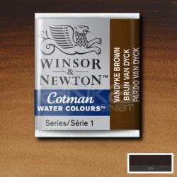 Winsor&Newton - Winsor & Newton Tablet Sulu Boya No:676 Vandayk Brown
