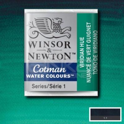 Winsor & Newton Tablet Sulu Boya No:696 Viridian Hue - 696 Viridian Hue