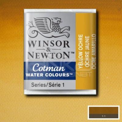 Winsor & Newton Tablet Sulu Boya No:744 Yellow Ochre - 744 Yellow Ochre