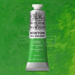 Winsor&Newton - Winsor&Newton Winton Yağlı Boya 37ml 483 Permanent Green Light