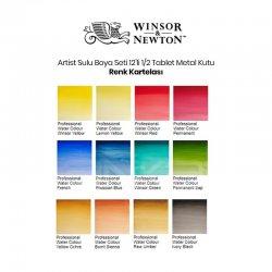 Winsor&Newton - Winsor&Newton Artist Sulu Boya Seti 12li 1/2 Tablet Metal Kutu (1)