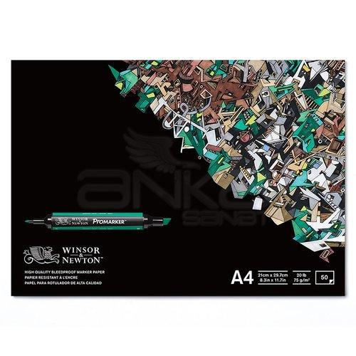 Winsor&Newton Bleedproof Marker Paper Pad 75g 50 Yaprak A4
