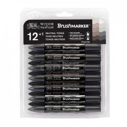 Winsor&Newton - Winsor&Newton Brush Marker 12+1 Set Neutral Tones