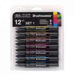 Winsor&Newton - Winsor&Newton Brush Marker 12+1 Set Vibrant Tones