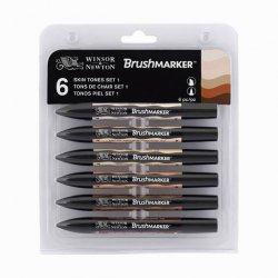 Winsor&Newton - Winsor&Newton Brush Marker 6lı Set Skin Tones