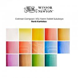 Winsor&Newton - Winsor&Newton Cotman Compact Set 14lü Yarım Tablet Sulu Boya Seti (1)