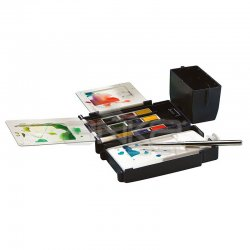 Winsor&Newton Cotman Field Box Cep Tipi Sulu Boya Seti 12li Yarım Tablet - Thumbnail