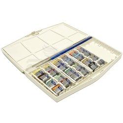 Winsor&Newton - Winsor&Newton Cotman Sulu Boya 24lü Yarım Tablet + Defter Hediyeli 26x36cm (1)