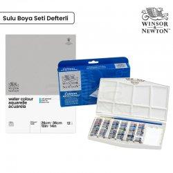 Winsor&Newton - Winsor&Newton Cotman Painting Plus Sulu Boya 24lü+Defter 26x36cm